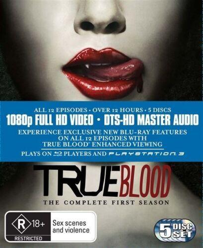 1 of 1 - True Blood : Season 1 (Blu-ray, 2010, 5-Disc Set) ** Like New **