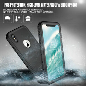 For iPhone XR XS MAX Case Waterproof Shockproof Cover Built-in Screen Protector