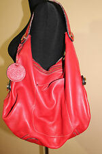 LOEWE HOBO  LEATHER SHOULDER BAG RED