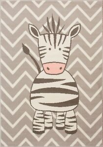 Kids-Gris-Chevron-Play-Room-Nursery-Tapis-Zebre-Animal-Safari-Fun-Chambre-Tapis-Tapis