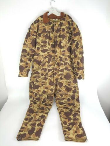 DuxBak Hunting Coveralls Tan Camoflauge Zipped Leg