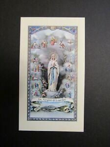 IMAGE PIEUSE : NOTRE DAME de LOURDES, PRIERE du PAPE PIE XII