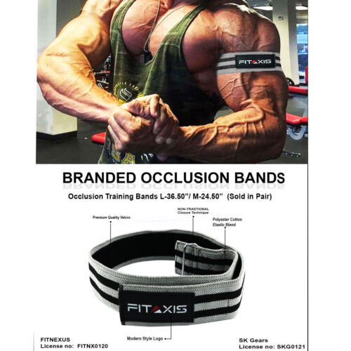 """Fitness Occlusion Bands for Blood flow Resistance Arms Legs L-36.50""""//M-24.50""""."""