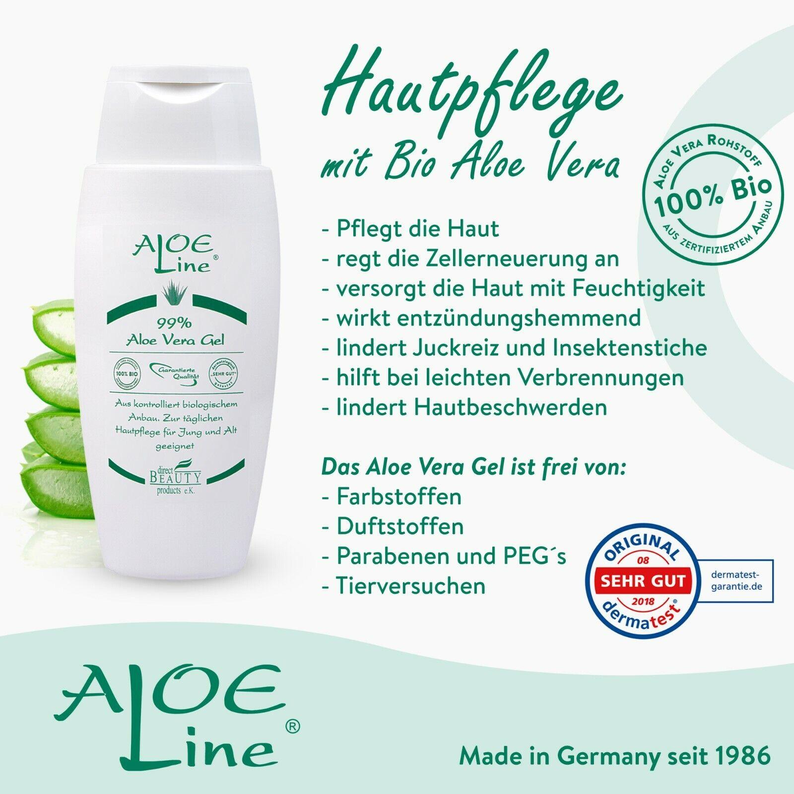 Bio Aloe Vera GEL 99 - Pflege für Haut - Haar - Gesicht - Körper - 150ml