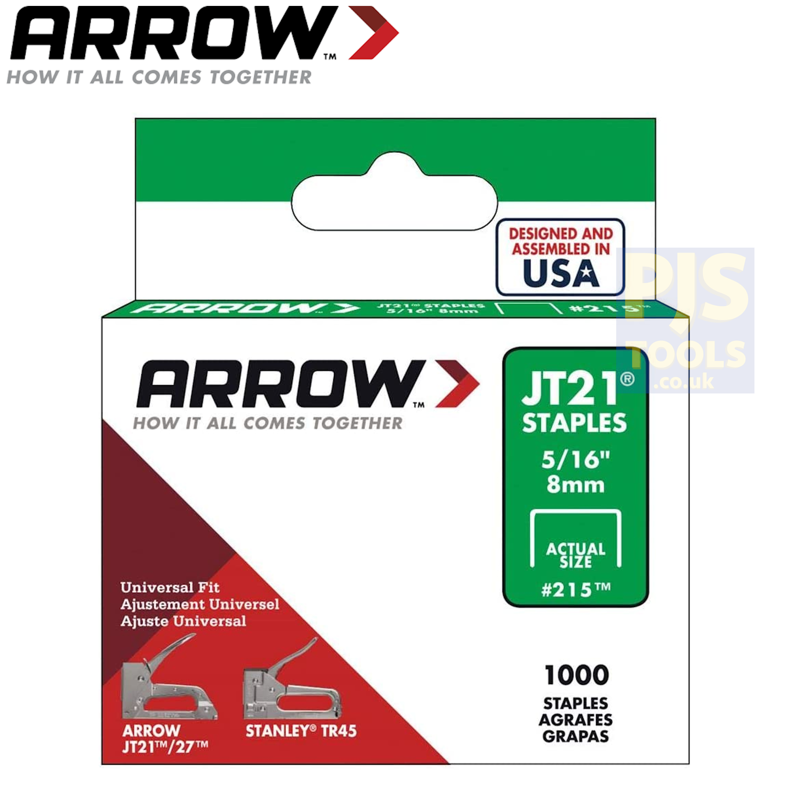 type JT21 a Pack 2000 Tacwise TAC0334 53 Light-Duty Staples 6 mm