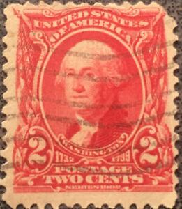 Scott-301-US-2-Cents-Washington-Postage-Stamp-VF-NH