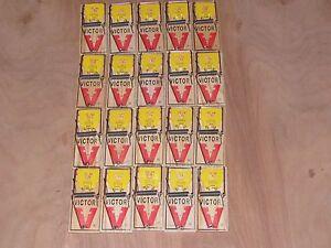 18 Victor M325 Easy Set Piège à Souris Nouvelle Promotion-afficher Le Titre D'origine