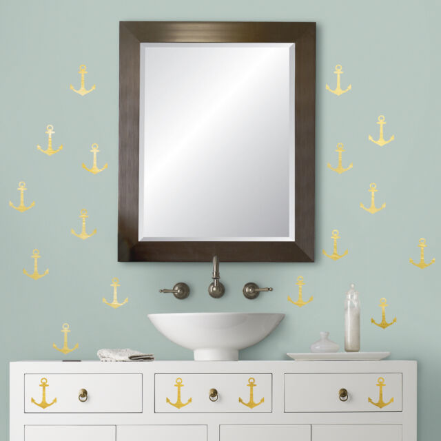 Roommates Rmk3522scs Mini Anchor Peel And Stick Wall Decals With