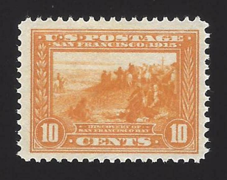 1913 10c Discovery of San Francisco Bay, Orange Yellow