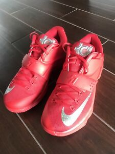 7c665a188723 NIKE Air MAX KD 7 VII Global Game Shoes Red Silver Mens size 10 ...