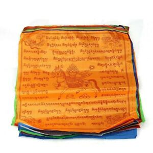 2 corde Tibet buddista Monaco preghiera Bandiera Vento cavalli 20 bandiere 7m