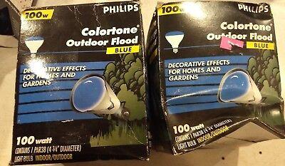 Philips Colortone 100W BLUE Outdoor Flood Light NEW Par38