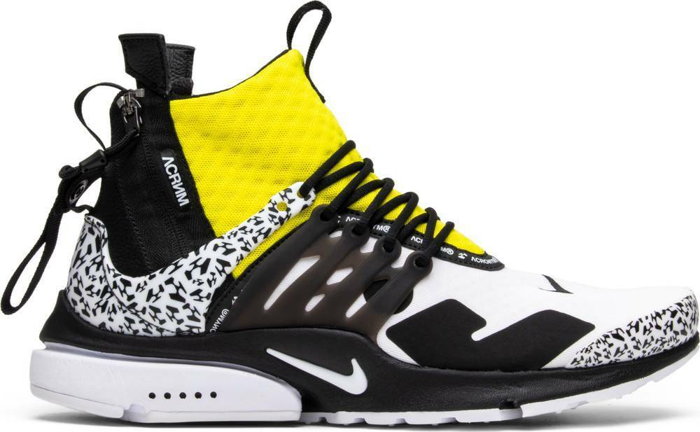 Nike Air Presto Mid Acronym White Black-Dynamic Yellow Men's shoes Size 14