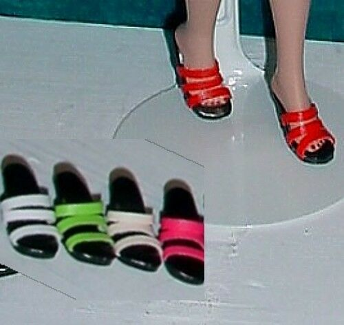Basic Smooth Colors Tiny Kitty Doll Shoes Sandals 5 Pairs!