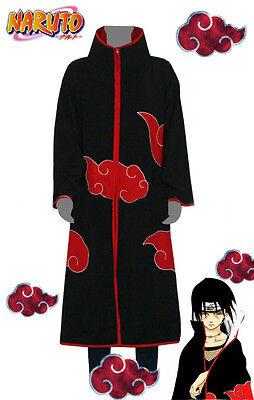 NARUTO Akatsuki Uchiha Itachi Coat Halloween Party Cosplay Size  L & XL & XXL