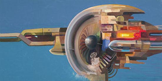 Andrea Galasso  rouge Energy terminé-image 50x100 la fresque Abstrait