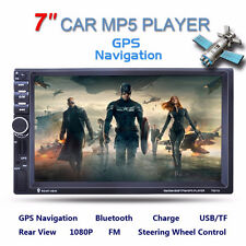"Bluetooth 7"" 2 Din In-dash Car Stereo MP3 Audio Radio Player GPS Navigation AUX"
