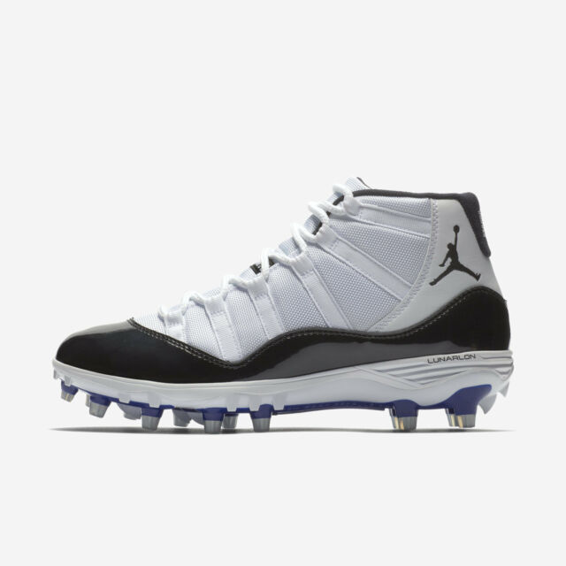 f35d61a051b8 Jordan 11 XI Retro TD Football Cleats Size 8 Concord AO1561-123 Nike Air  White