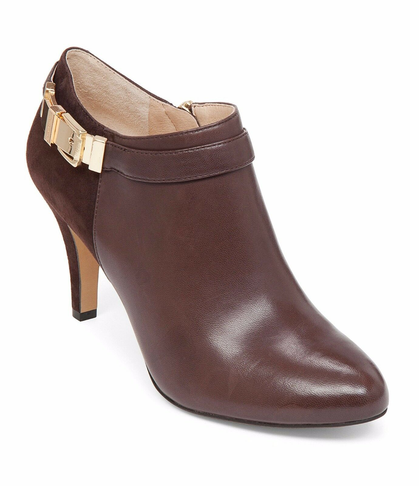 Women Vince Camuto Vanny Ankle Boots, Sizes 7-10 Chocolate Leather VC-Vanny LE