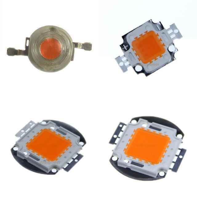 Full Spectrum 100W 50W 30W 20W 10W 3W 380NM-840NM High Power LED Chip Grow Light