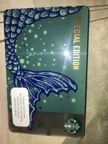 STARBUCKS Card Anniversary Blend Autumn 2019 Mermaid Tail Special Edition 6169