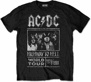 AC-DC-ACDC-Highway-To-Hell-World-Tour-1979-1980-Black-T-SHIRT-OFFICIAL-MERCH