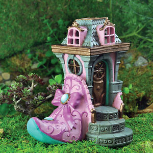 Fairy Garden Pink Slipper Chateau House Display