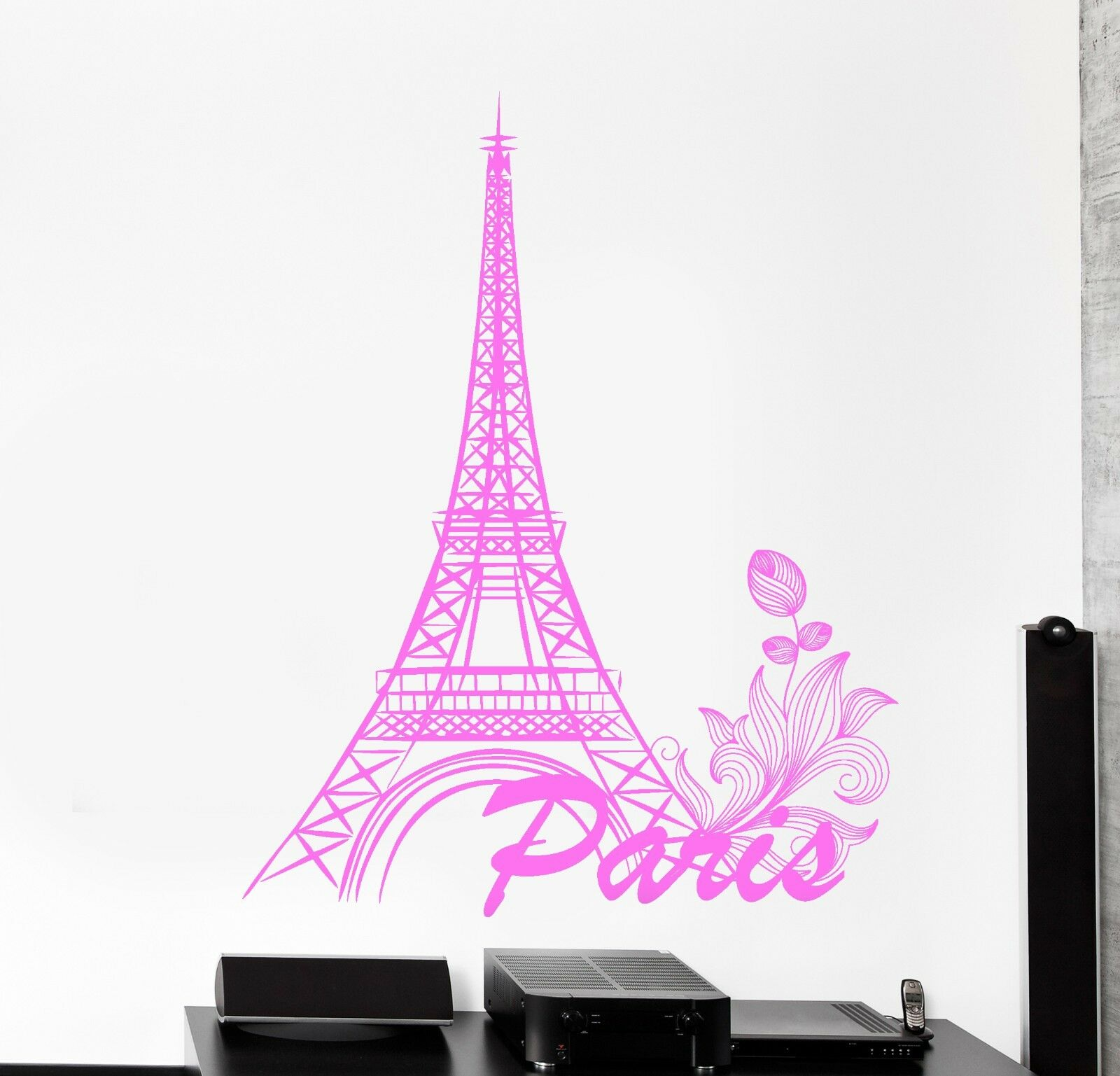 Wand Vinyl Decal Paris France Travel Vacation Cool Amazing Decor z3828
