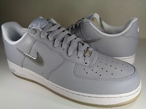 the best attitude cfc7d 60cc3 Image is loading Nike-Air-Force-1-Wolf-Grey-White-Jewel-
