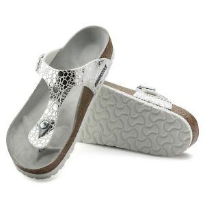 b61c185140af96 Birkenstock Gizeh 36 37 38 40 41 normal metallic stones silver ...