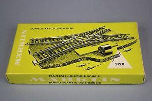 X572-Marklin-train-Ho-5128-aiguillage-traversee-jonction-double-Marklin