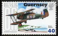 RAF GLOSTER GLADIATOR WWII Aircraft Stamp (Battle of Britain 60th / Guernsey)