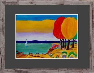 Wandbild-Ruth-Underberg-1924-2002-verzeichnet-Expressionist-Ammersee-1967-xxx