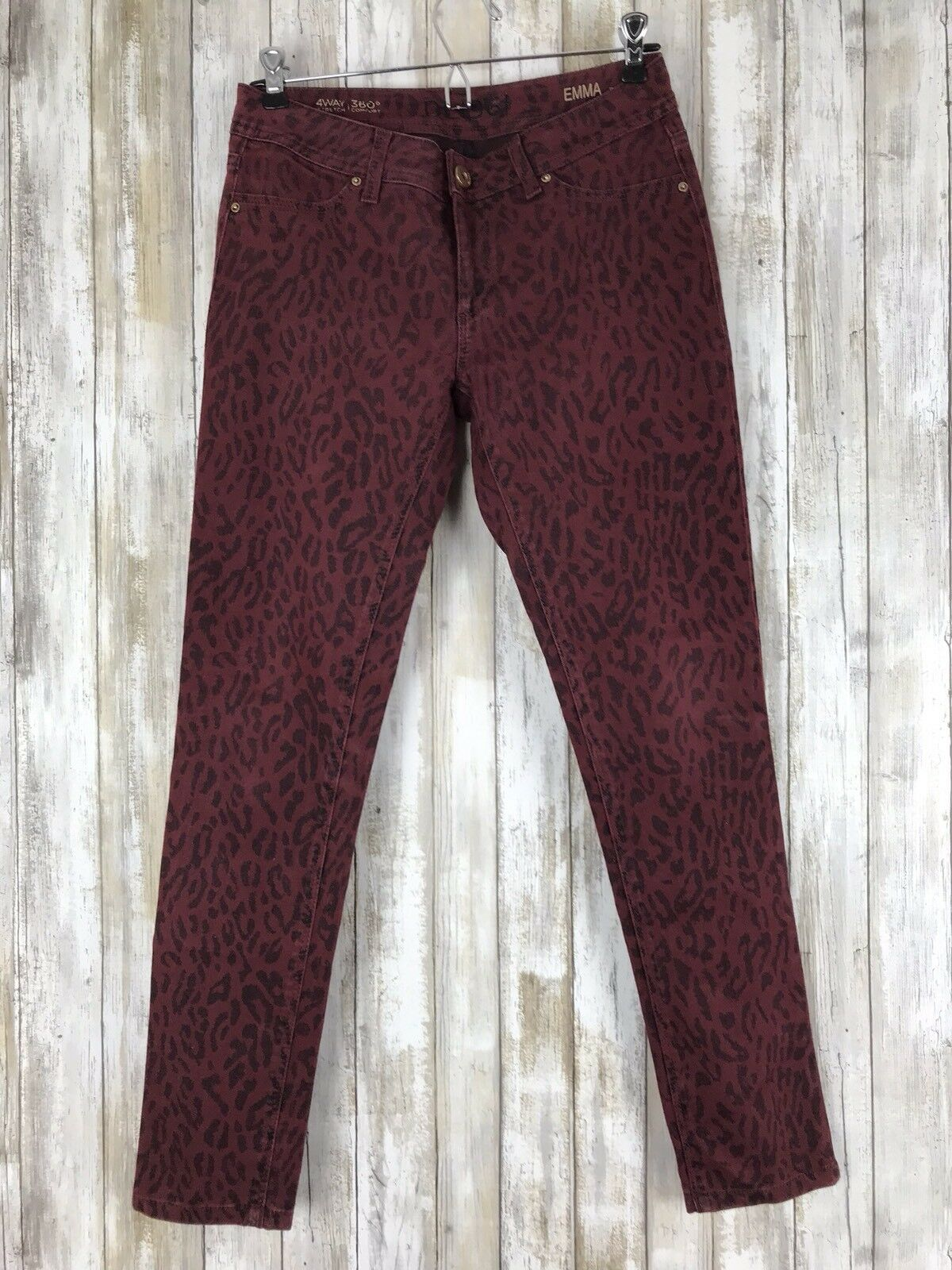 DL1961 EMMA Legging Skinny Legging Jeans MINX Leopard Red Wash 27
