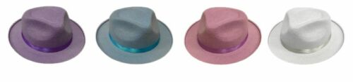 12 x Trilby Felt Hat Hen Stag Party Fancy Dress Fun Team Building