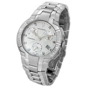 accutron by bulova 26e05 york collection swiss chronograph diamond image is loading accutron by bulova 26e05 york collection swiss chronograph