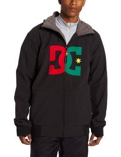 DC Spectrum Mens Softshell Snowboard Snow Ski Jacket Chinese Red Rasta Large XL