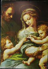 OLD BLESSED SACRED FAMILY HOLY CARD ANDACHTSBILD SANTINI   SEE MY EBAY SHOP C739