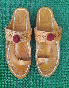 Details about Kolhapuri Chappal online women chappal flip flop leather chappal indian shoes