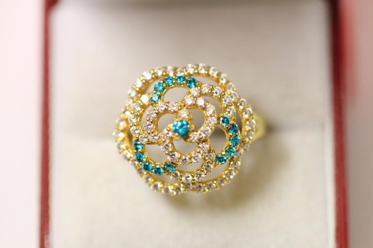 22ct 916 sparkling attractive indian gold ring Boxed