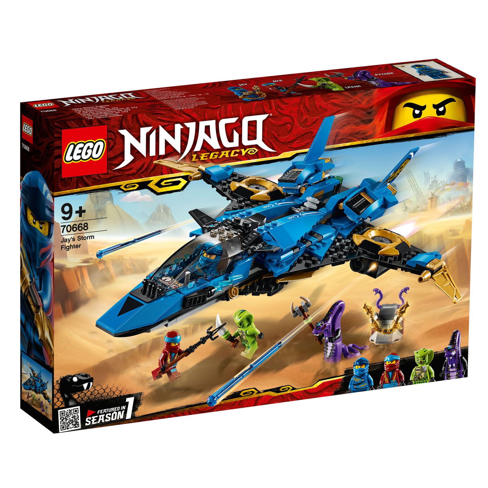70668 LEGO Ninjago Jay's Storm Fighter 490 Pieces Age 9+ New Release for 2019