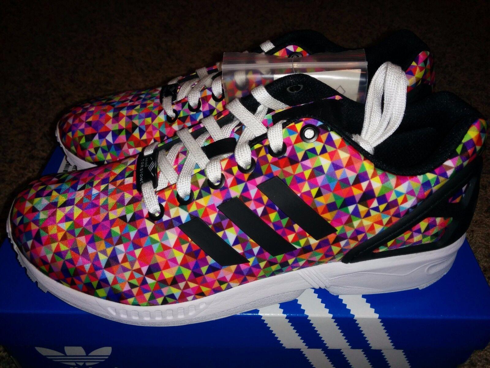 Adidas ZX Flux Multi Color Prism Rainbow Boost Multicolor M19845 Print Xeno NEW Seasonal price cuts, discount benefits