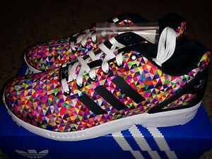 infinito Noce Vendita anticipata  Adidas ZX Flux Multi Color Prism Rainbow Boost Multicolor M19845 Print Xeno  NEW | eBay
