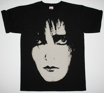 SIOUXSIE AND THE BANSHEES SIOUX FACE POST PUNK GOTHIC THE CURE NEW BLACK T-SHIRT