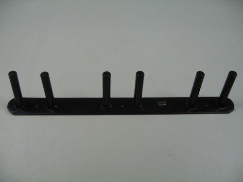 Gerätehalter Trensenhalter schwarz 6 Haken 60 cm von Stubbs Made in England