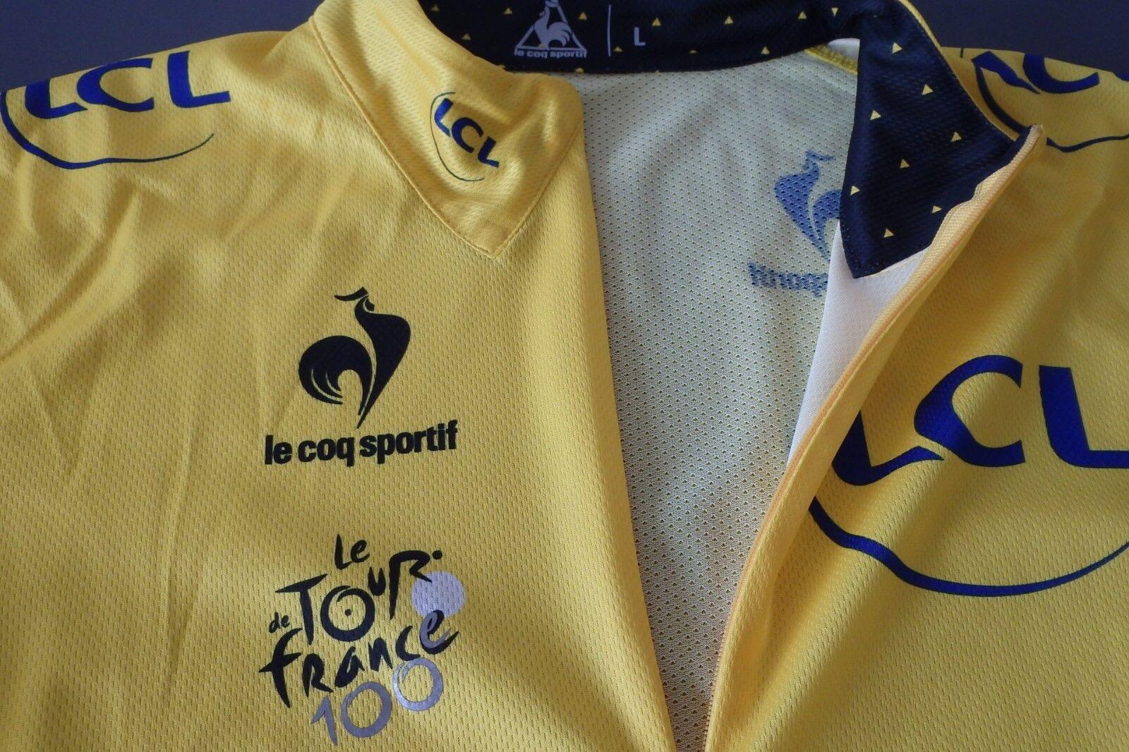 Le Coq Sportif 100th Tour de France comemorative yellow jersey   high quaity