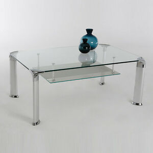 Das Bild Wird Geladen Couchtisch DAVO Glastisch Glas Silber Beistelltisch Wohnzimmertisch Tisch