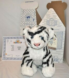 Details About Build A Bear White Tiger Plush With Black Stripes 15 Bab New
