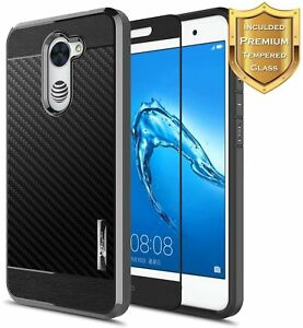 cheap for discount 60075 74fa6 Details about For Huawei Ascend XT2 H1711/Elate 4G Case   Shockproof TPU  Cover +Tempered Glass