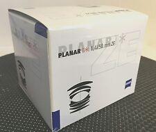 New Carl ZEISS PLANAR T * 50mm f/1.4 ZE Canon EF Manual Focus Lens Cosina Japan
